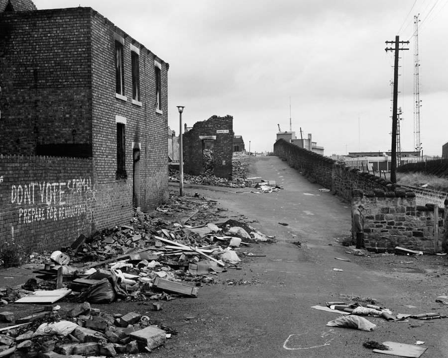 08. Street in Wallsend with houses demolished 1981