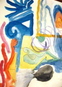 Israel Mota Berriozábal. Acuarela sobre papel, 1992, circa.